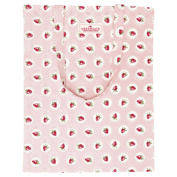 GreenGate Stofftasche - Bag Cotton Cherry White