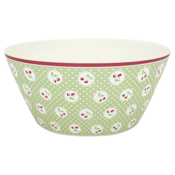 GreenGate Bambus-Schüssel – Bowl Cherry berry pale green large