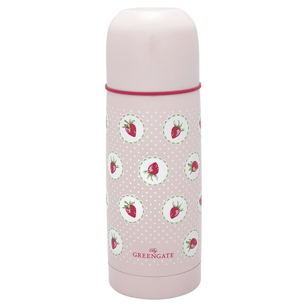 GreenGate Thermosflasche – Bottle Strawberry pale pink 300ml