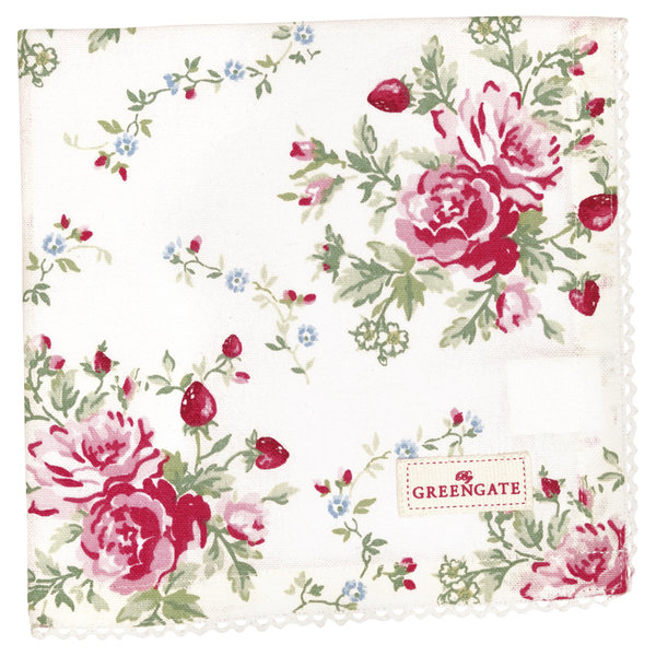 GreenGate Stoffserviette – Napkin with lace Marry white
